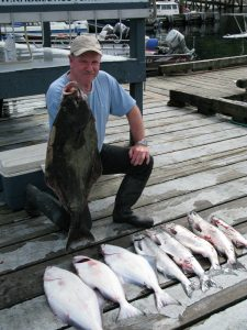 halibut and salmon catch at Knudsen Cove