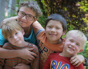 boy cousins happy