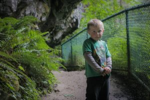 evan scared on trail